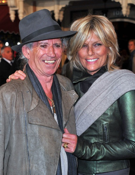 Keith Richards Patti Hansen