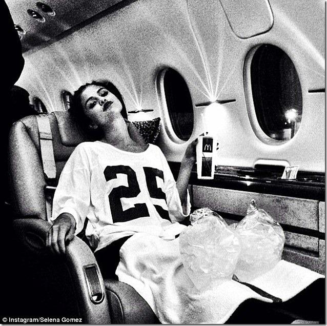 Selena Gomez Plane